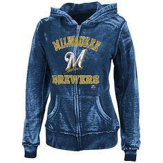 Majestic Milwaukee Brewers Push The Limits Fleece Hoodie - Women