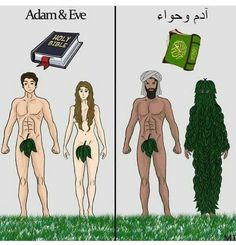 Adam and Eve. Funny Images, Funny Pictures, Christian Humor, Adam And Eve, Funny Pins, Funny Jokes, Funny Stuff, Adult Humor, Funny
