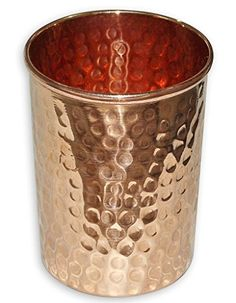 VISVABHAVANAH MART Handmade Pure Copper Glass Cup For Water Or Tea Or Coffee (Hammered Glass) Brown 16oz VISVABHAVANAH MART http://www.amazon.com/dp/B01BSBRNTA/ref=cm_sw_r_pi_dp_p965wb00ARYX3