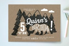 Northwoods Children's Birthday Party Invitations by Alethea and Ruth at minted.com