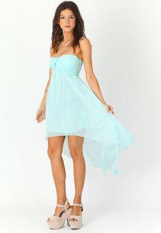 Sherry Gathered Chiffon Look Asymmetric Dress