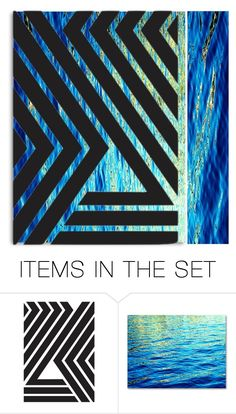 """Simple blue"" by beanpod ❤ liked on Polyvore featuring art, Blue and abstract"