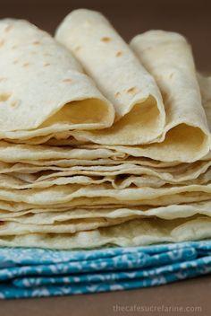 Homemade Flour Tortillas, easy, no lard. Made a 1/3 batch and got 4 nice burrito sized tortillas.