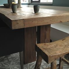 Curved top on stool Custom Kitchens, Home Kitchens, Interior And Exterior, Interior Design, Wooden Tables, Interior Inspiration, Stool, Dining Table, Woodworking