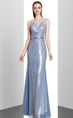 Shop For Blue Sequins Prom Evening Dress