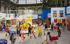 Today's Chanel AW14 Paris fashion week show was insane, love the Chanel supermarket, all hail Karl