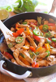 Thai Basil Chicken Stir Fry with Ginger Peanut Sauce