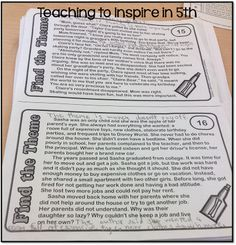 Teaching Theme in the Upper Grades and a FREEBIE! - Teaching to Inspire with Jennifer Findley
