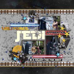 Digital Scrapbook Layout using #believeinmagic: Galaxy Wars by Studio Flergs and Amber Shaw
