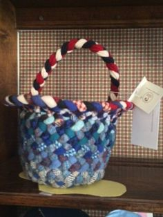 A-tisket a-tasket A red and blue basket.  Visit Main Street Artisan's Co-op soon and check out the baskets woven by fiber artist, Janice Lyle. You are sure to find a lot of uses for the baskets in your house. While you are admiring her baskets, be sure to check out her rugs also.  Main Street Artisan's Co-op Wednesday - Sunday 11:00 AM - 5:00 PM 31 South Main Street (Route 666) Sheffield, PA.