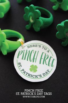 Printable Pinch Free St. Patrick's Day Tags