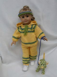 """Ravelry: American Girl 18"""" doll Working Out pattern by Ase Bence"""