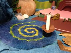 Hand felted advent spiral