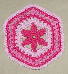 Ravelry: Granny Hexagon With Flower Center pattern by Amy Solovay