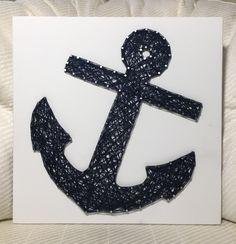 Anchor String Art, Nautical- order from KiwiStrings on Etsy! www.KiwiStrings.etsy.com
