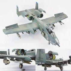A-10 Warthog. Modeler David.Fussichen #scalemodel #plastimodelismo #scalemodelkit #plastickits #usinadoskits #udk #hobby