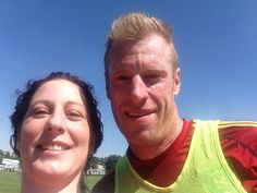 Nat Borchers and me after practice today!