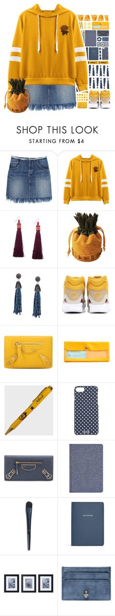 """Fun Times"" by ritaof ❤ liked on Polyvore featuring NIKE, Balenciaga, Hightide, FeFè, Sugar Paper, Globe-Trotter, Mikasa and Alexander McQueen"
