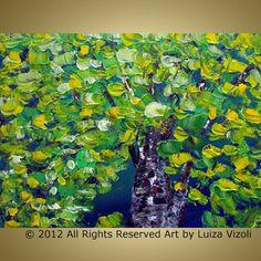 Original Modern Impressionist Palette Impasto Oil by LUIZAVIZOLI, $190.00