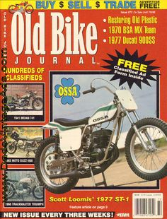 Scott Loomis' 1977 Ossa 250 ST-1 short-tracker restored to new condition