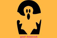 Ghost pumpkin carving pattern - Free pumpkin carving patterns