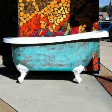 "61"" Acrylic Clawfoot Slipper Tub, ""Patina Maries"""