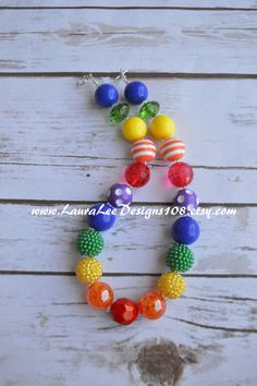 Colorful Rainbow Red Orange Green Blue by LauraLeeDesigns108