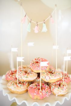 """Daphne's Donut Shop"" Birthday Party by Peppermint Plum Photography @Alexandria smith http://www.fawnoverbaby.com/2013/05/daphnes-donut-shop-birthday-party-by.html"