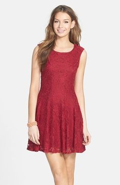 Socialite Cap Sleeve Skater Dress (Juniors)