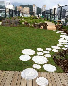 Green Rooftop Garden.