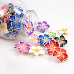 30mm Polymer Clay Rose Flower Beads   Package of 10  These colorful beads are perfect for crafts, miniature food, dessert and cake decoration, you name it!  $4.99