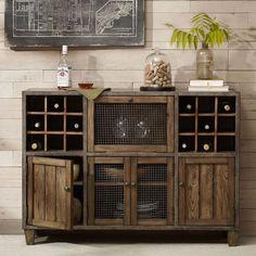 Sideboards: extraordinary wine buffet hutch Sideboard With Mini Fridge, Buffet With Wine Refrigerator, Buffet Server With Wine Rack ~ shalomhaifa.com