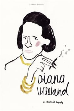 """Diana Vreeland: an illustrated biography"" poster for book gouache on paper/adobe photoshop"