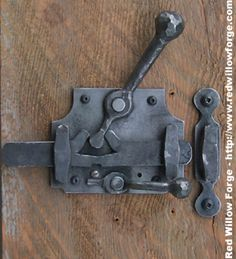 hand forged door lock  What do you think Matt? @Matt Jenkins