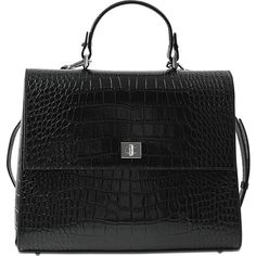 177fef0fa74 Hugo Boss Bespoke CS M Top Handle bag featuring polyvore, women's fashion,  bags, handbags, black, handle handbag, top handle handbags, handle bag, ...