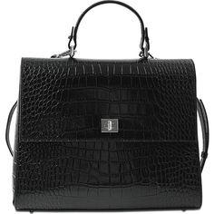 Hugo Boss Bespoke CS M Top Handle bag featuring polyvore, women's fashion, bags, handbags, black, handle handbag, top handle handbags, handle bag, top handle bags and hugo