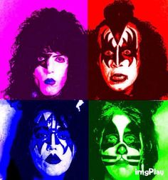 Kiss Collage GIF Kiss World, Cool Optical Illusions, Vinnie Vincent, Kiss Art, Classic Rock And Roll, Kiss Pictures, Kiss Photo, Ace Frehley, Hot Band