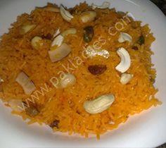 How to Make Zarda Rice, English / Urdu Recipe