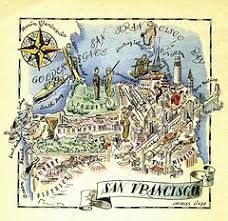 Image result for vintage california map