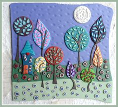 The House In The Woods. Folk Art Style - All from Polymer Clay