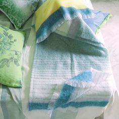 Designers Guild Haori jade mohair throw