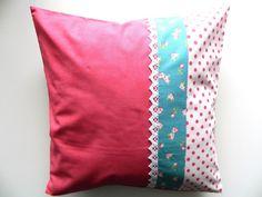 Kissenbezug, rosa Patchwork, Kissen, Kissenhülle- von rosarot-designs auf DaWanda.com