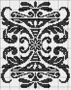Rectangle 16 | Free chart for cross-stitch, filet crochet | Chart for pattern - Gráfico