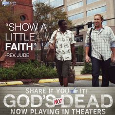 God's Not Dead - Benjamin Ochieng as (Rev. Jude) & David A.R. White as (Pastor Dave) in God's Not Dead now playing in theaters  - Pure Flix - Christian Movies - #PureFlix #ChristianMovies #DavidARWhite www.PureFlix.com www.GodsNotDead.com
