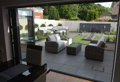 Modern suburban garden designed by Robert Hughes Garden Design