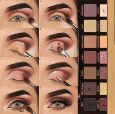 Eye Make-up - Look at another tutorial of eyes for us to train ! Eye Make-up – Olha mais um tutorial de olhos para a gente treinar! E aí gosta… Eye Make-up – Look at another tutorial of eyes for us to train ! Cute Makeup, Glam Makeup, Skin Makeup, Makeup Inspo, Eyeshadow Makeup, Makeup Inspiration, Beauty Makeup, Eyeshadow Tips, Eyeshadows
