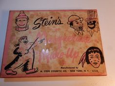 VINTAGE 1930S PINK STEIN'S MASQUERADE FACE THEATER MAKEUP COMEDY & TRAGEDY RARE | eBay
