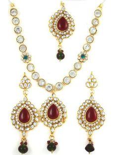 Necklace Sets Maroon Kundan Polki Cubic Zirconia Imitation Earring Prom Jewelry Set Mogul Interior, http://www.amazon.com/gp/product/B009740BPE/ref=cm_sw_r_pi_alp_hUvtqb10SQ42W