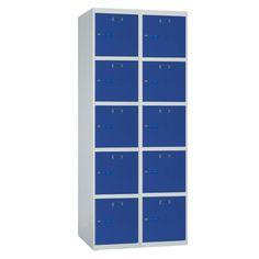 Taquilla metálica modular económica ECOP-40/2, de dos cuerpos y cinco puertas