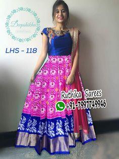 Half Saree Lehenga, Lehenga Saree Design, Lehenga Gown, Lehenga Designs, Anarkali Dress, Blouse Designs Catalogue, Kids Blouse Designs, Bridal Blouse Designs, Saree Blouse Designs